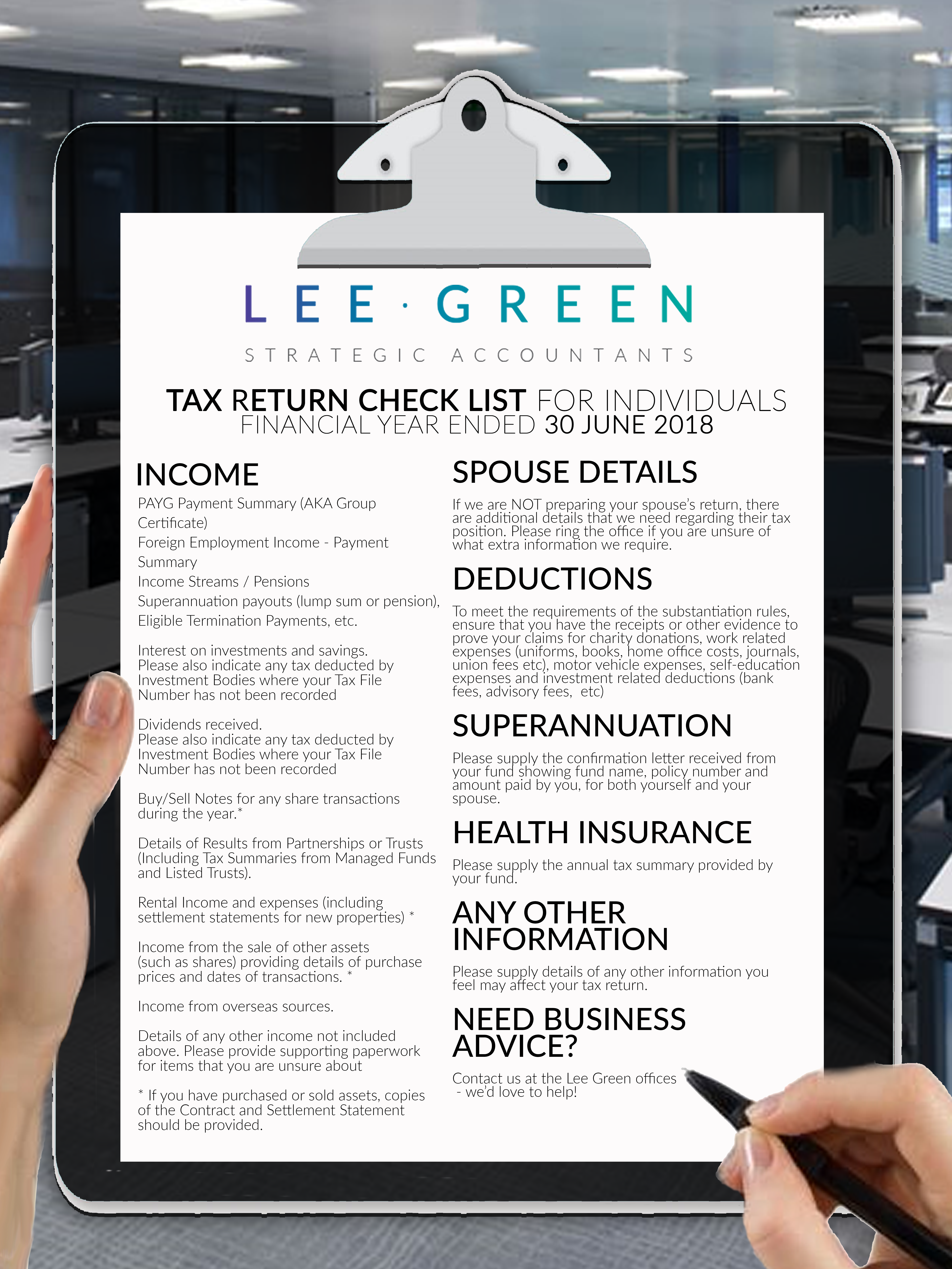 Tax Return Checklist