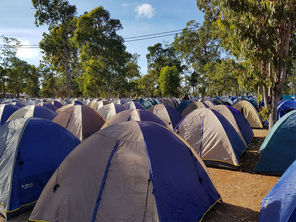 Tent accommodation at the Garma Festival